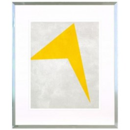 KLIJUN YELLOW PRINT WITH SILVER FRAME
