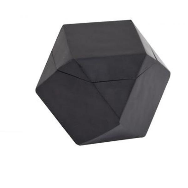 Κουτί πολυγωνικό από μαύρη πέτρα