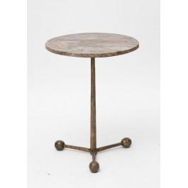 Βοηθητικό τραπέζι σίδερο και γυαλί / DECORIM.gr