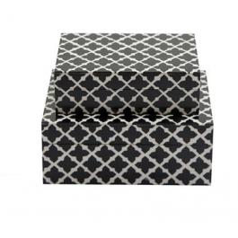 Σετ 2 κουτιά απο ρητίνη με ασπρόμαυρο σχέδιο.